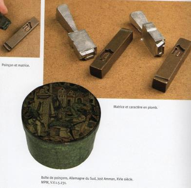 Poinçons et matrices d'imprimerie